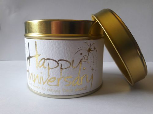 Lily-Flame tinned candle - Happy Anniversary